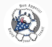 Dog Bon Appetit! Gourmet Pet Treats Thank You Stickers {white} by offleashart