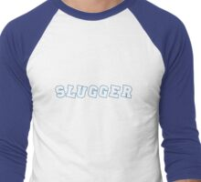 Slugger Blue Men's Baseball ¾ T-Shirt
