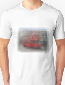 Red London Bus Overlay Unisex T-Shirt