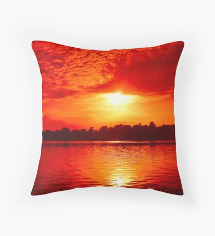 Sunset over The Nile Throw Pillow