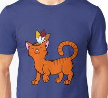 Thanksgiving Orange Cat with Indian Headdress Unisex T-Shirt
