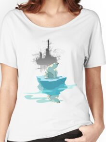 global warming illustration / print : NEED MORE ICE NOT OIL Women's Relaxed Fit T-Shirt