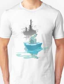 global warming illustration / print : NEED MORE ICE NOT OIL Unisex T-Shirt