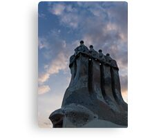 Whimsical Chimneys - Antoni Gaudi, Casa Batllo, Barcelona, Spain Canvas Print