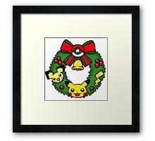 pokemon christmas Framed Print