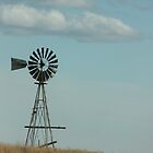 Windmill on a hill by Emily Barnes