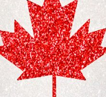 Glitter Canada flag  Sticker