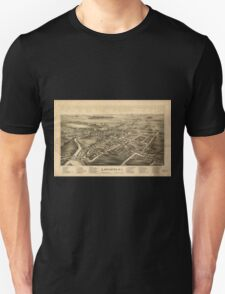 Panoramic Maps Lancaster NY Unisex T-Shirt