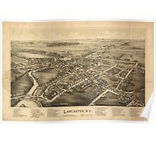 Panoramic Maps Lancaster NY Poster