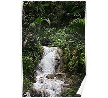 Jamaica waterfall Poster
