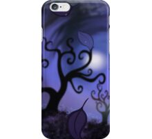 curly trees iPhone Case/Skin