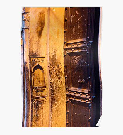 Old Delhi Door Poster