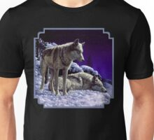 Night Watch - Wolves Oil Painting Unisex T-Shirt