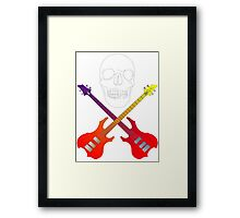 guitar cross bones  Framed Print