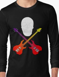 guitar cross bones  Long Sleeve T-Shirt