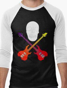guitar cross bones  Men's Baseball ¾ T-Shirt