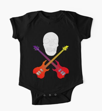 guitar cross bones  One Piece - Short Sleeve
