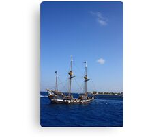 Ship off of the Cayman Islands Canvas Print