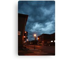 Small town storm coming Canvas Print