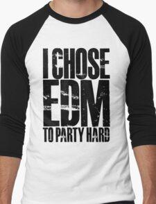 I Chose EDM To Party Hard (black) Men's Baseball ¾ T-Shirt