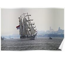 Tall Ship On The Hudson Rv. Poster