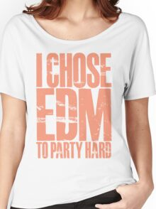 I Chose EDM To Party Hard (pastel red) Women's Relaxed Fit T-Shirt