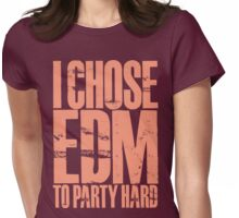 I Chose EDM To Party Hard (pastel red) Womens Fitted T-Shirt