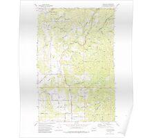 USGS Topo Map Washington State WA Foothills 241146 1973 24000 Poster