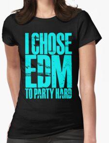 I Chose EDM To Party Hard (cyan) T-Shirt