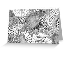 Scribble Card_2 Greeting Card