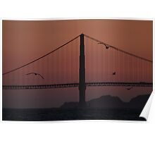 Traffic over the Golden Gate Poster