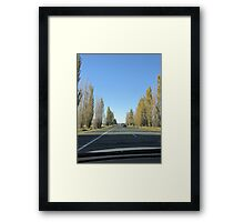 Canberra Turnoff (from Hume Hwy, NSW) Framed Print