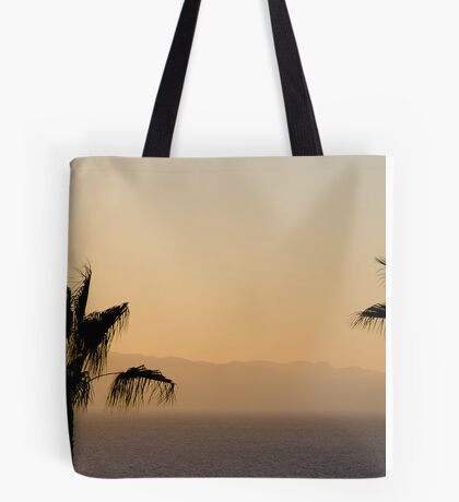 Sunset over Los Gigantes and Puerto Santiago Tote Bag