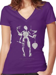 THE LITTLE WOMAN - TLW Series  •  No. 0101 Women's Fitted V-Neck T-Shirt