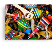 Wooden Toys for Sale Canvas Print
