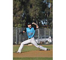 Baseball Pitcher Photographic Print