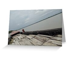 Boat on the waters Greeting Card