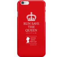 RUN SAVE THE QUEEN iPhone Case/Skin