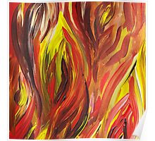 Abstract Flames Poster