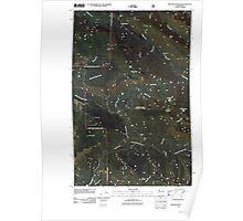 USGS Topo Map Washington State WA Meadow Mountain 20110425 TM Poster