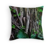 In the dark undergrowth Throw Pillow