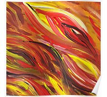 Hot Abstract Flames Poster