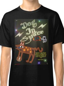 Dog In Space T-shirt Design Classic T-Shirt