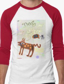 Dog In Space T-shirt Design Men's Baseball ¾ T-Shirt