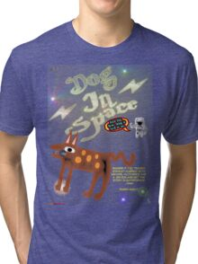 Dog In Space T-shirt Design Tri-blend T-Shirt