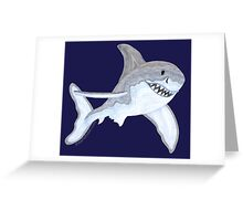 Great White Shark Fanciful Aquatic Watercolor Greeting Card