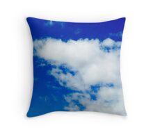 Blue Cloudy Sky Throw Pillow
