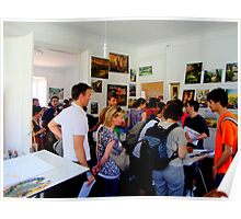 yesterday more than five hundred people from different countries visited my studio.. Poster