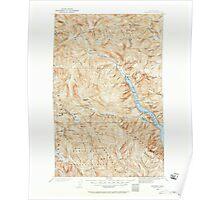 USGS Topo Map Washington State WA Stehekin 244021 1902 125000 Poster
