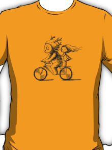 Girl and a monster on a bike T-Shirt